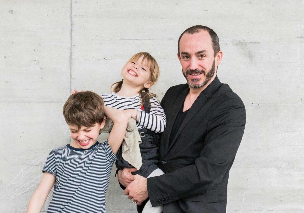 Blaise (44 ans), Liam (7 ans) et Nina (5 ans), blognouveauparent