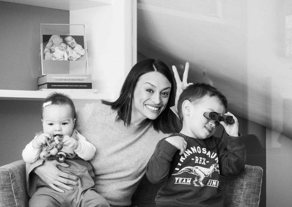 Natalie (31 ans), Adam (3 ans ½) & Chloe (8 mois)