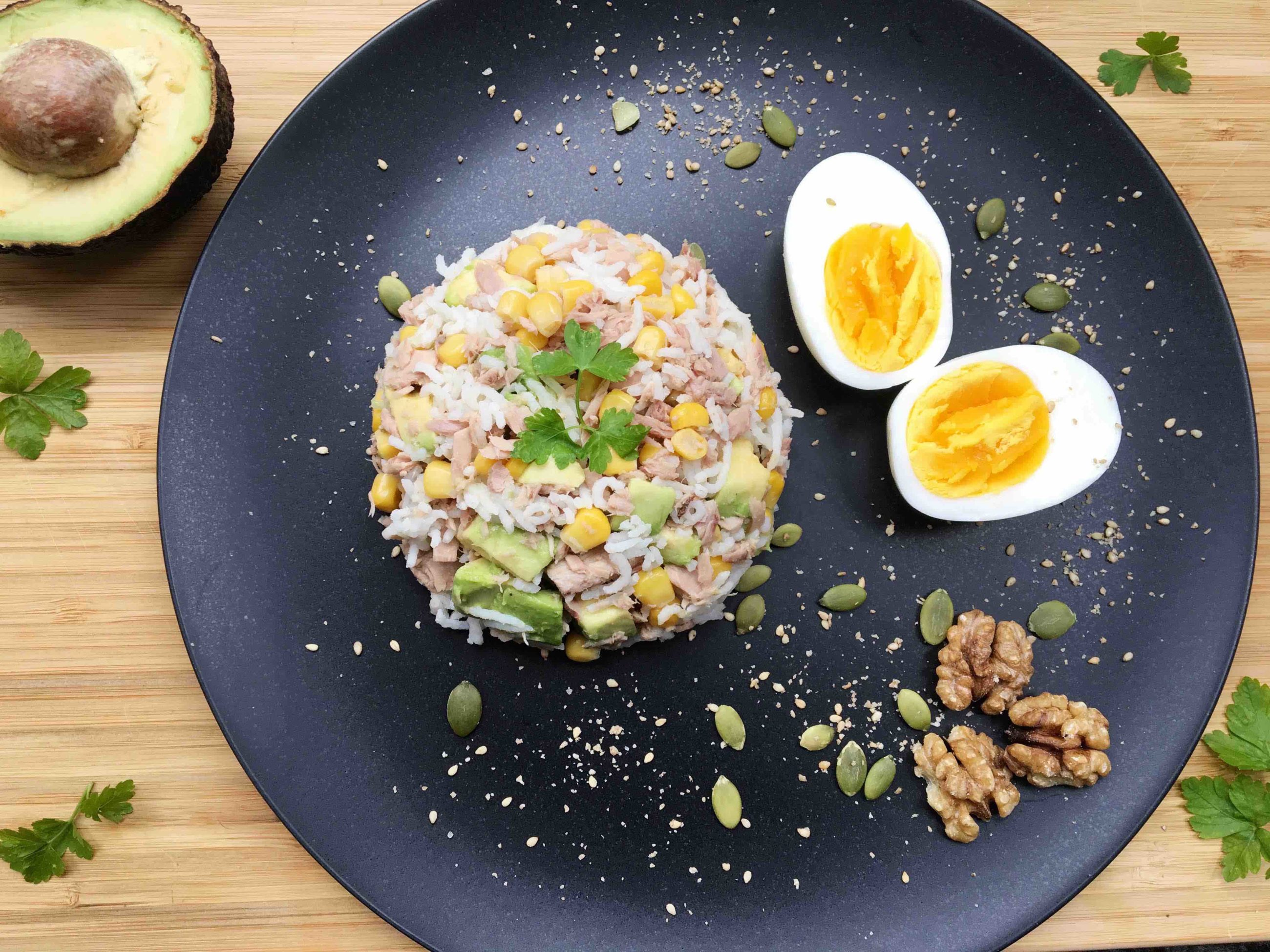 Rice, Tuna, Avocado & Egg Salad